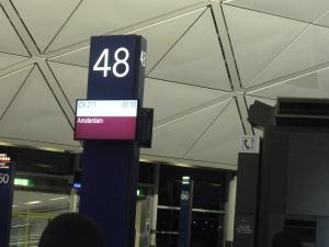 Gate saat akan berangkat ke Amsterdam dengan Cathay Pasific