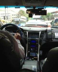Suasana di Dalam Taxi