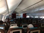 Suasana di dalam pesawat Garuda